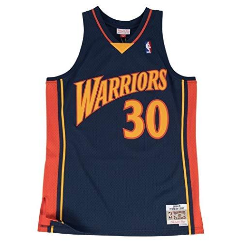 Mitchell & Ness Stephen Curry #30 Golden State Warriors 2009-10 Swingman NBA Trikot Navy, XL