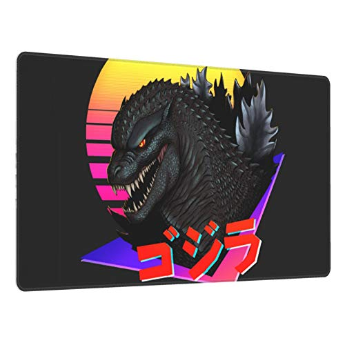 """Gaming Mouse Pad,Retrowave Godzilla , Long Extended Surface for Desktop Pc Computer Work Productivity Or Video Games, Laser Accuracy for Fast Responsiveness,16"""" X 30"""""""