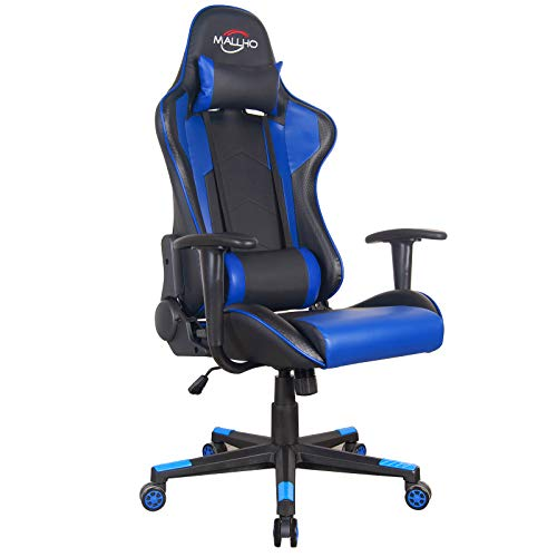 Polar Aurora Gaming Chair Racing Style High-Back PU Leather Office Chair Computer Desk Chair...