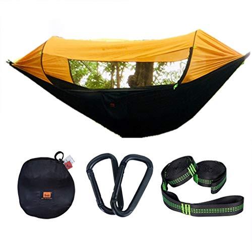 Hamacas Mobiliario de Camping Y la Sombra Mosquito Aire Libre Multi-Escena Aplicación Camping Anti-vuelco de Carga de 150 kg (Color : Orange, Size : 290 * 145cm)