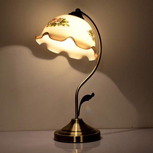 Xwyun modern LED bed light, American creative glass table lamp, retro living room bank counter...