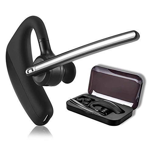 Bluetooth Headset 4.1 für Handy mit Mikrofon - happyset - zum Telefonieren 2 Handys Geräte Business Auto Büro Etui Pro universal iPhone 8 XS 6s 7 Plus X Samsung Galaxy S20 S10 S7 S8 S9 Huawei P20 P30