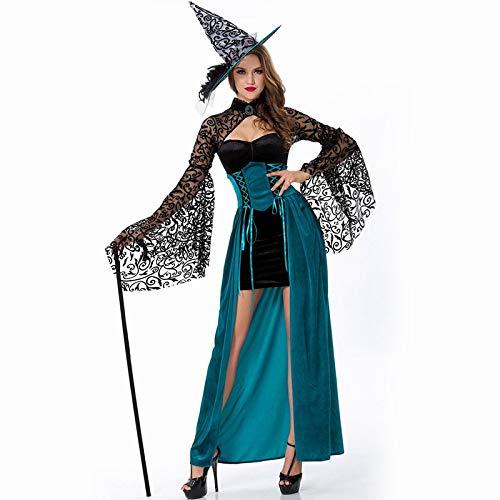 AHJSN 2018 Disfraz de Bruja gótica de Halloween para Mujer, Disfraz de Fiesta de Disfraces de Bruja para Cosplay, Disfraz de Bruja para Halloween