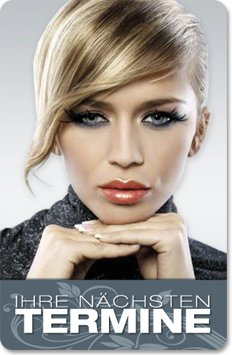 Terminkarten (100 Stück) für Friseur, Beauty, Kosmetik, Wellness