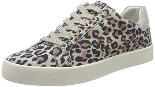 Caprice Damen Schnürer Sneaker,  Grau (Grey Leo Comb 290), 38 EU