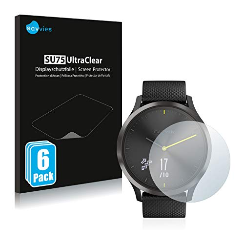 savvies 6-Pezzi Pellicola Protettiva Compatibile con Garmin vivomove HR Protezione Schermo Trasparente