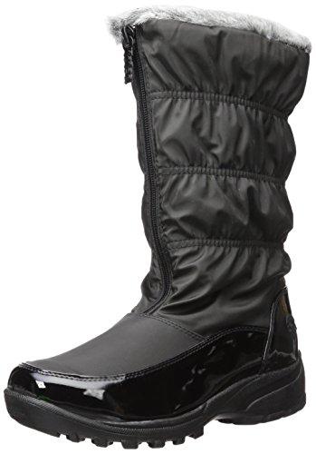 Totes Women's Bootie Snow Boot, Black, 9 Wide