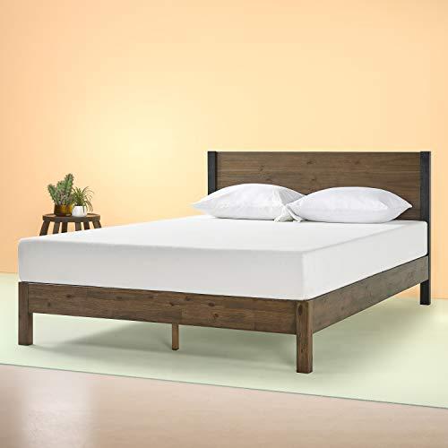 Zinus Cassandra 12 Inch Wood Platform Bed with Headboard, Full