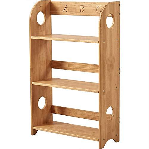 LXD Bücherregale, Bücherregal Massivholzfußboden Des Haushalts 3-Layer-Multifunktions-Speicherregal