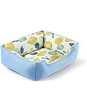 Peto-Raifu ペットベッド ペットソファー ペットクッション マット 小型 犬 猫 小動物 スクエア型 洗える 冷感 ひんやり メッシュ 通気性いい ふわふわ 夏秋用 暑さ対策 ペット用品