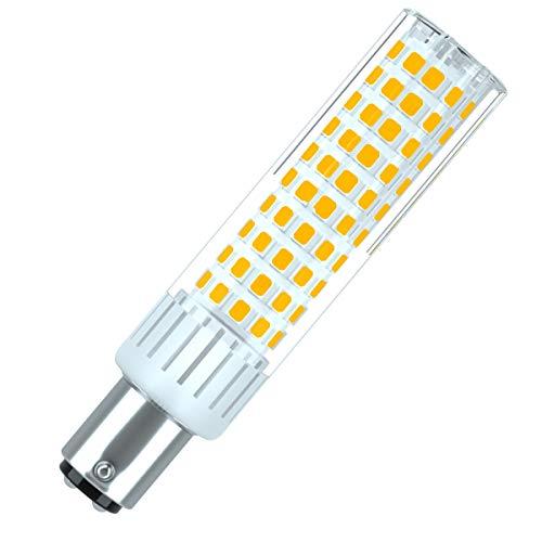 Ba15d Bombilla SBC 10.5W LED Blanco Cálido 3000K 1200 Lúmenes Equivalente a Lámpara Halógena de 100W Doble Bayoneta B15d Luz Para Máquina de Coser/Aparato Lámparas [1 unidades]