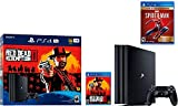 Newest Sony PlayStation 4 Pro 1TB Console Red Dead Redemption 2 Bundle W /Game :Marvel's Spider-Man: Game of The Year Edition