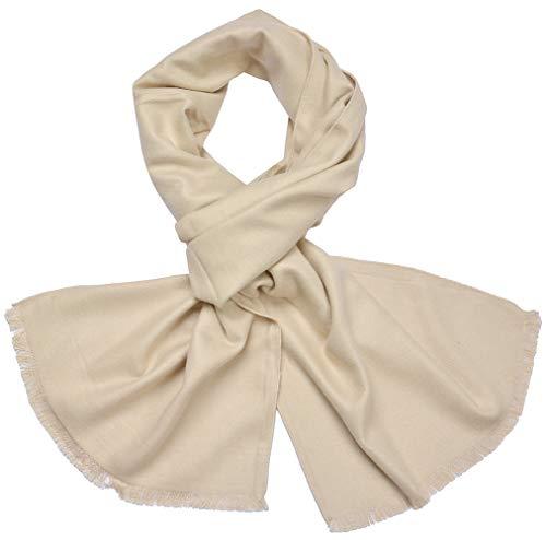 Miobo Herren Winterschal - Warme Schals Weiche Kariert und Einfarbig Schal Klassische Warme Herrenschal Wolle Mischung mit Quasten Herbst Winter