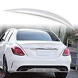 純正色塗装済 ABS製 トランクスポイラー メルセデスベンツ Cクラス W205用 セダン Aタイプ 外装 エアロ パーツ リアスポイラー 両面テープ取付 カラーコード:775 イリジウムシルバー