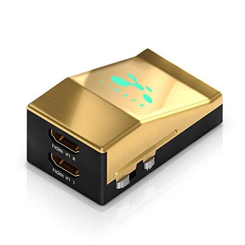 HDFury HDF0095-1 Linker 4K - 2x1 HDMI Switcher / Linker, HDCP 2.2 und 1.4 Konvertierung, 18Gbps für 4K60 4:4:4 600MHz, integrierter Scaler, HDR Infoframe Injector