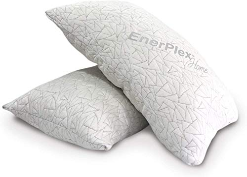 EnerPlex 2-Pack Luxury King Pillows, CertiPUR-US Certified Adjustable Shredded Memory Foam Luxury King Size Pillow, Machine Washable, Bamboo Cover, 36x20, Will Not Go Flat