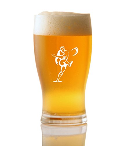 1 Pint Tulp Bierglas Met Rugby Ontwerp