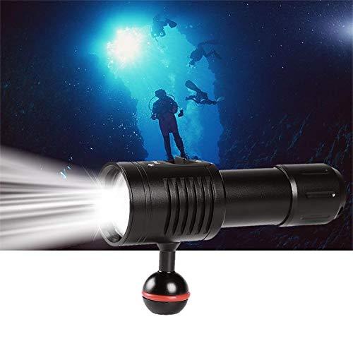 (¡Último!) Fuego buceo luces subacuáticas 100M vídeo/fotografía profesional buceo linterna, 1800 lúmenes...