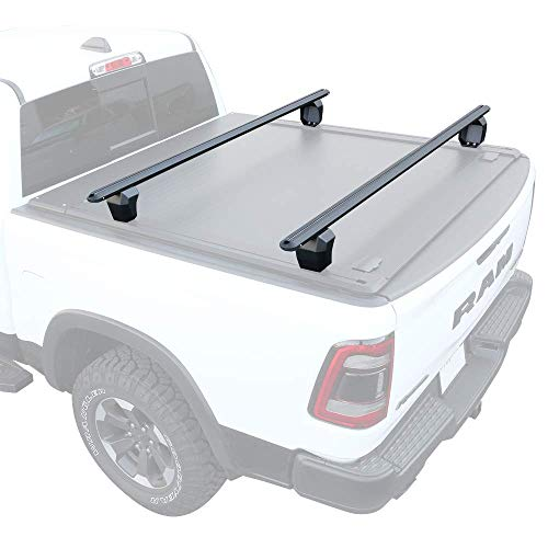 Syneticusa HD Adjustable Crossbar Truck Bed Towers Heavy Duty Cargo Rack Compatible with F150 Ram...