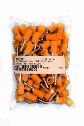 VS-ELECTRONIC - 320406 Stiftkabelschuh, SKP 6-10 (100-er Pack), Gelb 329406