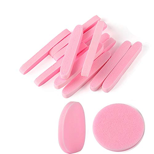 Compressed Facial Sponges,120 Pcs Face Cleansing Sponge,Beauty Makeup Round Facial Wash Pads Cosmetic Exfoliating for Women,Pink