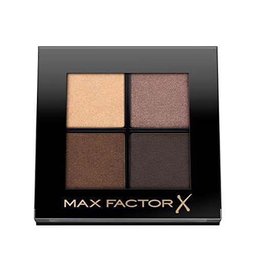 Max Factor Colour X-Pert Soft Touch Palette Ombretti, 4 Ombretti dal Colore Intenso, Altamente Sfumabili, 003 Hazy Sands