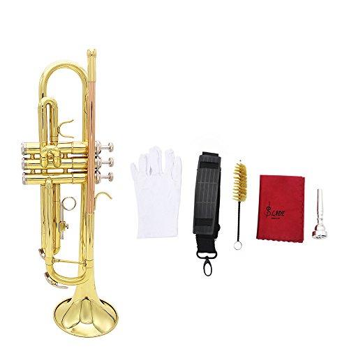 Andoer® Trompette Bb B Flat Laiton...