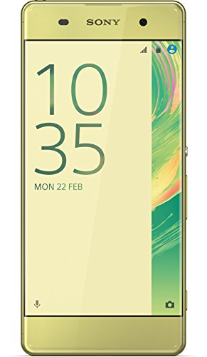 Sony Xperia XA Smartphone (5 Zoll (12,7 cm) Touch-Display, 16GB interner Speicher, Android 6.0) Lime Gold