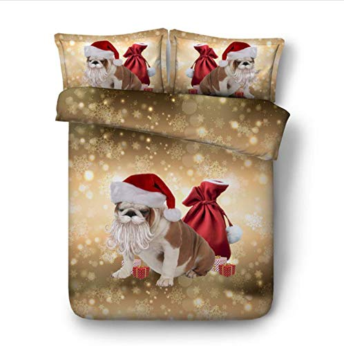 NTT Duvet Cover 3D Christmas Beddings Set Queen Size Animal Kids Duvet Cover Set With Pillowcase Bedline Home Textile Dog Bed Set 150 * 200Cm