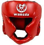 Boxe Casco Protezione Allenamento Adulti da Gara Protezione Testa Chiuso Tipo Arti Marziali Fitness...