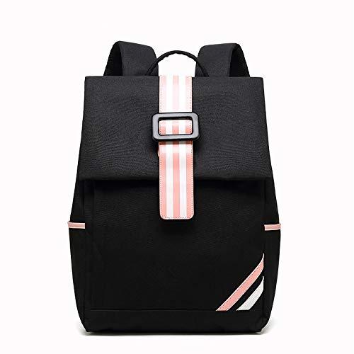 Hanggg reisrugzak voor dames, van Oxford-stof, rugzak voor laptop, USB, reistas nero
