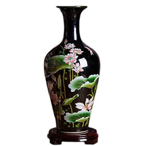 XXSHN Equipo de Vida Jarrón de cristalería Decoración de Sala de Estar de cerámica Arreglo Floral Chino Moderno Porcelana Decorativa (Tamaño: Estilo Tres)
