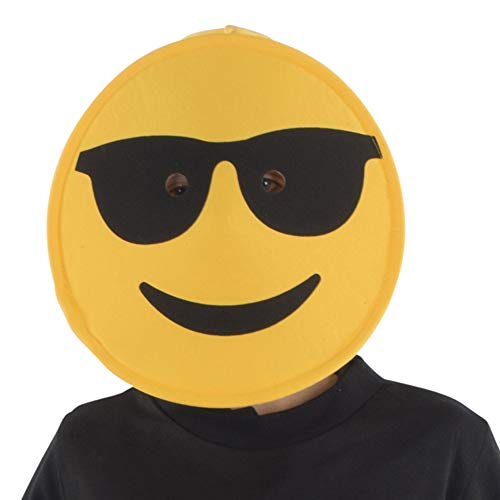Dress Up America Sonnenbrille Emoji Maske für Kinder, lustige Kopf Maske Zubehör