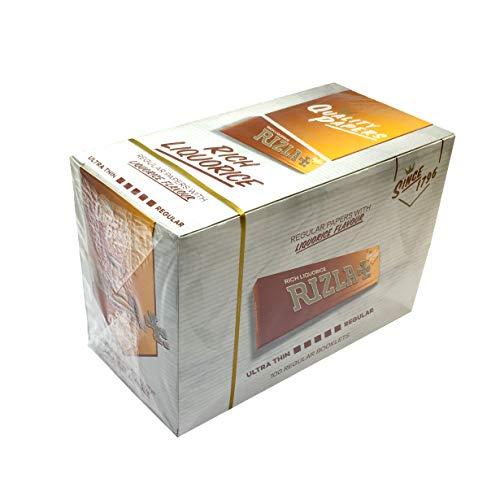 Makbros Rizla Lakritze Tabakblätter, 100 Broschüren, vollständig versiegelt