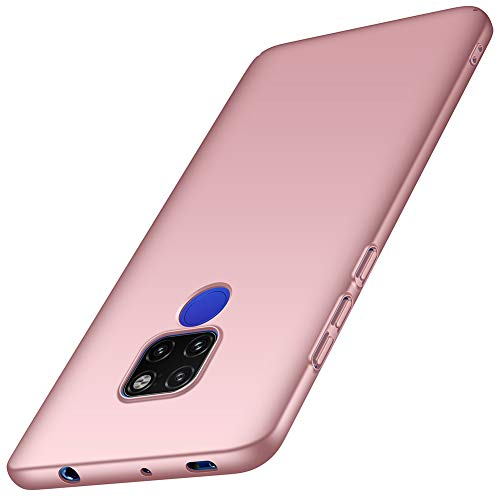 ORNARTO Hülle für Huawei Mate 20, Ultra Dünn Schlank Stoßfest, Anti-Scratch FeinMatt Einfach Handyhülle Abdeckung Stoßstange Hardcase für Huawei Mate20 (2018) 6.53' Rose Gold