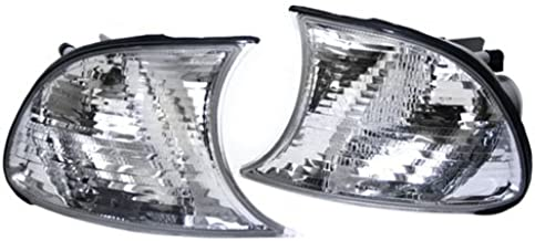 TopPick 63126904307-63126904308 Corner Lights FOR BMW E46 3-Series 2DR 1999-2001 Clear/Chrome