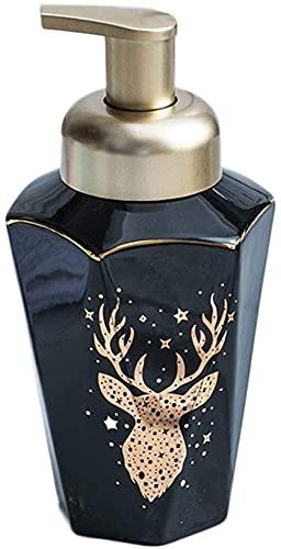 LCNING Cerámica SAPE DISPENSEREMOSION Botella DE RESOLA Botella de jabón Creativo Home Hotel Supplies Mano Press Tipo Botella de jabón Bomba a Prueba de Herrumbre (Color : Negro, tamaño : Foam Head)