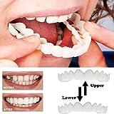 CDDZ Praktisches Design Whiten Smile Fake Zahnabdeckung Smile Kieferorthopädische Zähne Zahnaufhellung Snap Snap Kaufen Sie EIN Set Und Erhalten Sie Eines Gratis, Insgesamt 2 Sets