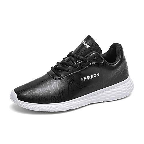 Zapatillas Para Correr Para Hombre Entrenadores De Gimnasio Zapatos Deportivos De Carretera Caminar Por Carretera Zapatos De Gimnasio Liviano Transpirable Casual Cuero,Blanco,45