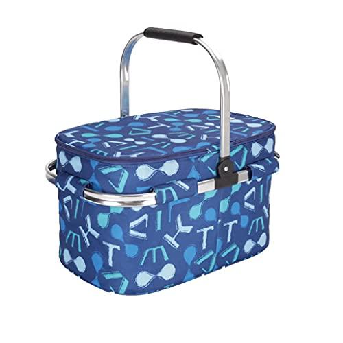 cesta con tapa con efecto mimbre de la marca ZMX