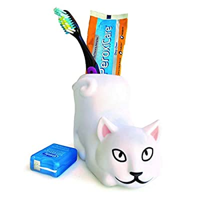 Lily's Home Fun Toothbrush Holder for Kids - Children's Bathroom Storage Organizer for Toothpaste and Toothbrushes. Also Great Holder for Pens, Pencils and Markers