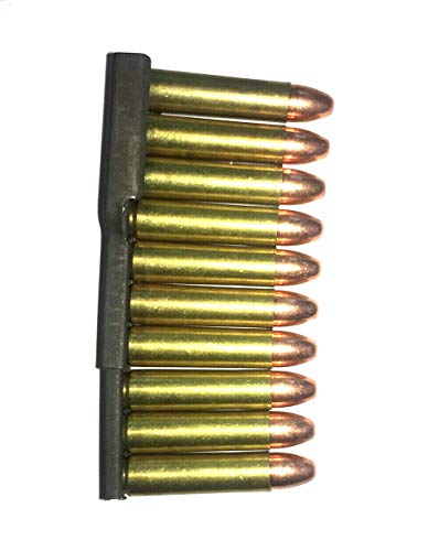 30 Carbine Snap Caps in Stripper Clip M1 Carbine .30 Cal US Army WWII Fake (Rubber Inserts)