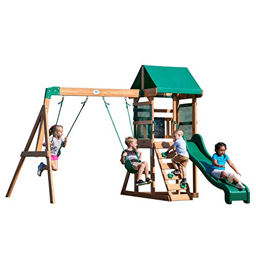 Backyard Discovery Buckley Hill Wooden Swing Set