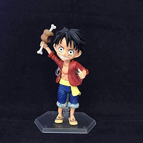 ZJZNB EEN STUKS Q Versie van de nieuwe wereld Leuke Kid AFFE D. Ruffy Strohoed Kid Action Figuur Geanimeerd karaktermodel Decoratie Statue