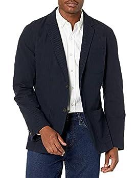 Amazon Brand - Goodthreads Men s Slim-Fit Seersucker Blazer Navy/Black XXX-Large