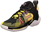 Jordan Why Not Zer0.2 Se, Zapatillas de Baloncesto Hombre, Black/Flash Crimson/Amarillo/Vast Grey, 42 EU