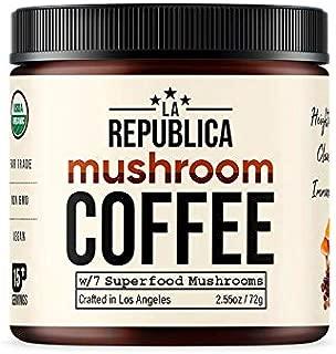 La Republica Organic Mushroom Coffee w/ 7 Superfood Shrooms (Chaga Lion's Mane Keto Paleo)