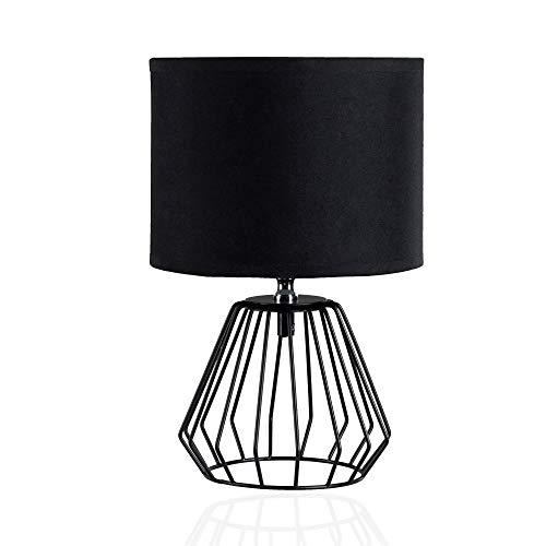 Pauleen Shiny Diamond Tischleuchte max. 20W Tischlampe für Lampen Nachttischlampe 230V Metall/Stoff ohne Leuchtmittel
