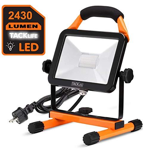 Luz de Trabajo portátil Led, TACKLIFE 30W Foco Led, 2430 LM