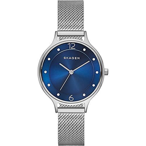 Skagen Damen Analog Quarz Uhr mit Edelstahl Armband SKW2307